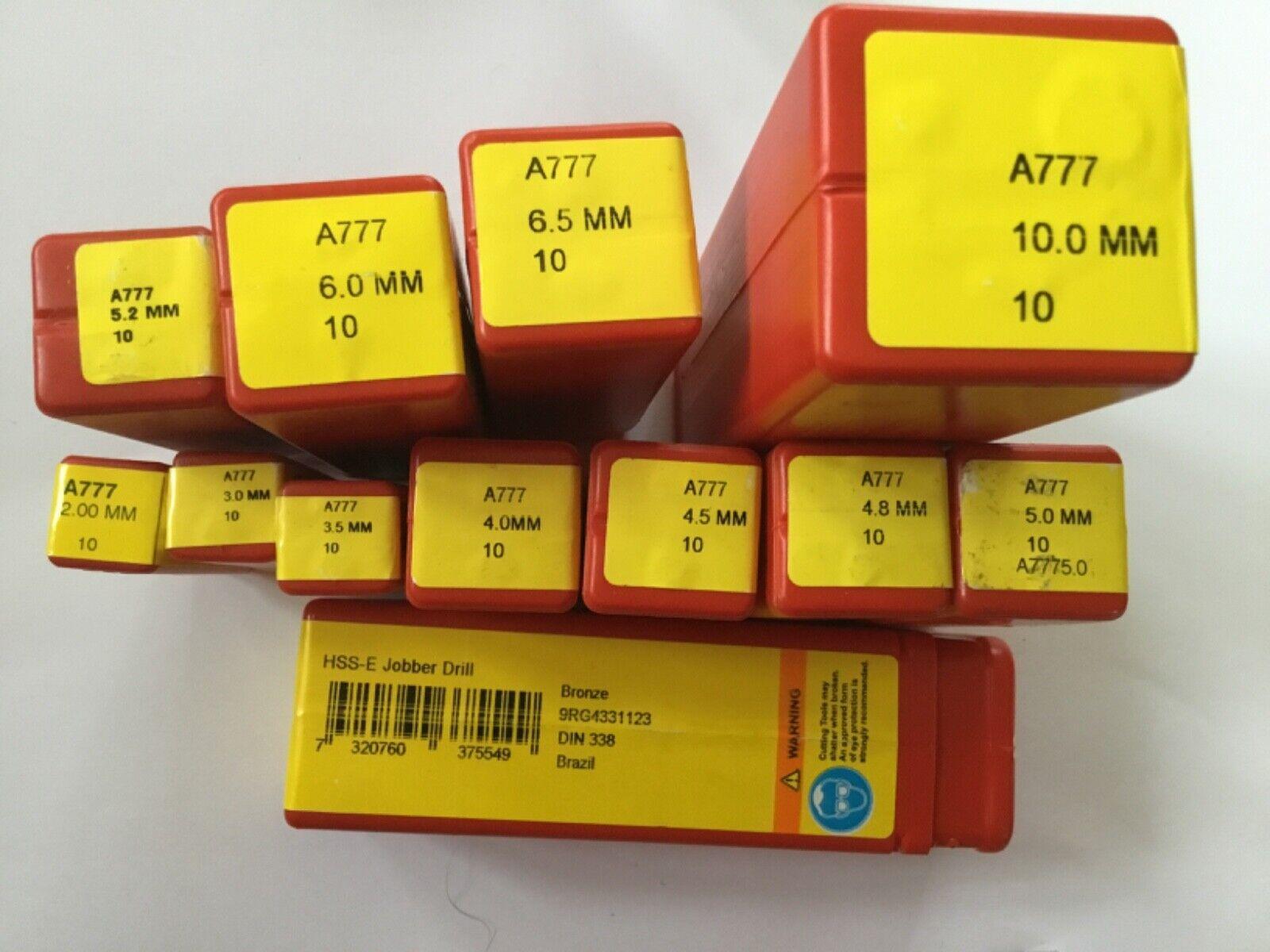 Dormer Cobalt Heavy Duty A777 HSco Jobber Drills (Metric) + presto NEW