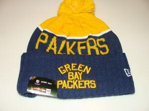 9f819bb597c Green Bay Packers Knit On Field New Era Toque Beanie Retro Sideline ...