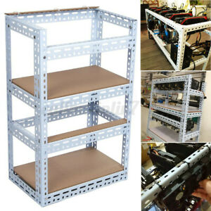 10GPU Crypto Coin Open Air Mining Frame Rig Case Steel ...