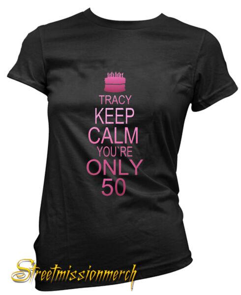50th BIRTHDAYPERSONALISED LADIES T SHIRTGIFT CELEBRATIONall Sizes Available