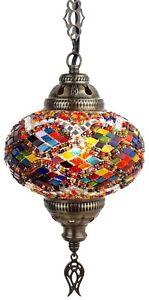 L-Turkish-Moroccan-Mosaic-Ceiling-Hanging-Pendant-Light-Lamp-Lantern-Chandelier