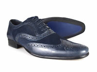 Red Tape Carn Navy Leather and Suede Men's Brogue Shoes UK 7-12 RRP £45 Free UK