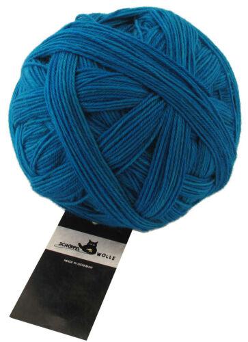 8,90 €//100g almidón almirante 6 calcetines lana 150g schoppel FB 4780 turquesa
