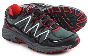 caa03f8f6198 NEW NIB Fila Men s Headway 6 Trail Running Shoe Dark Grey Black Red ...