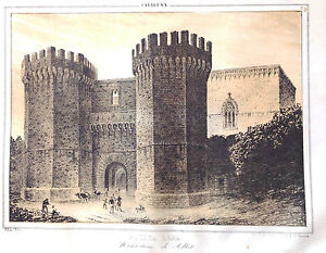 Lithograph Original Of Parcerisa Clients First Poblet Tarragona Cheap Sale Catalonia Spain
