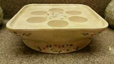 Large Terrace Blossom Partylite votives tray embossed flowers summer patio table