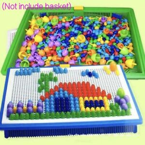 Children-Kids-Puzzle-Peg-Board-296-Pegs-Early-Educational-Toys-Creative-Mosaic