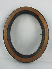 ancien  cadre porte photo en bois epoque 1900 ovale medaillon