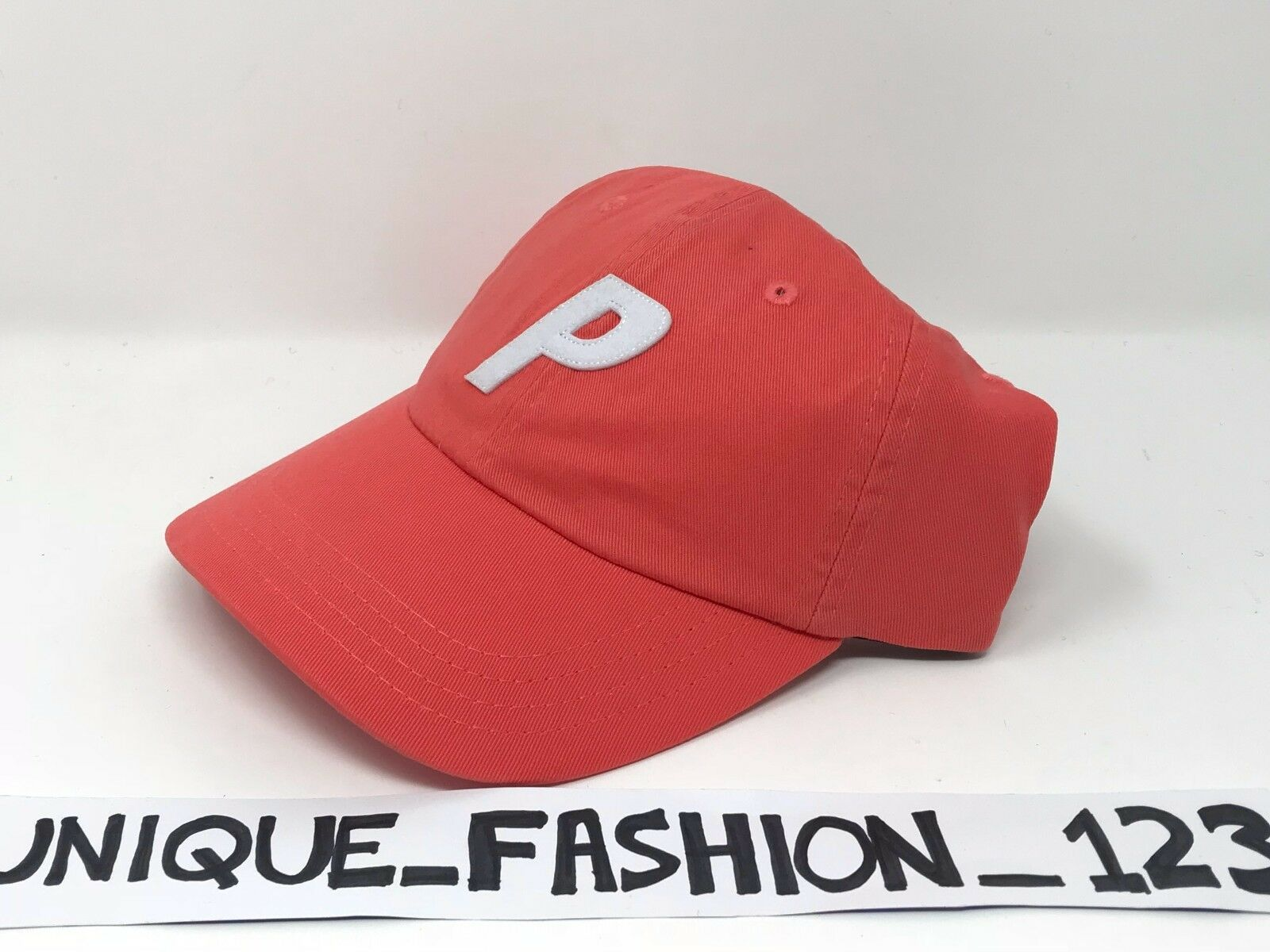 PALACE SKATEBOARDS FW16 6 PANEL P SALMON CAMP HAT CAP CAYENNE SALMON P RED CURVED PEAK a3b11b