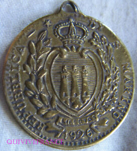 Collection Ici Med8392 - Medaille 10 Lires Saint Marin 1926