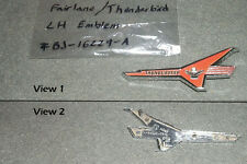 LH Thunderbird V8 Fender Emblem 1956/56 Ford Fairlane/Victoria Engine Badge 312