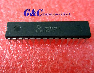5PCS IC LED DRIVER PWM CONTROL 28-DIP TLC5940NT TLC5940 NEW GOOD QUALITY