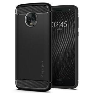 Case-Motorola-Moto-G6-Spigen-Rugged-Armor-Black-Slim-TPU-Cover-Case-M17CS23125