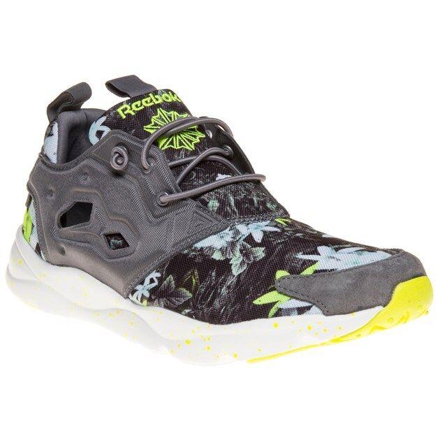 Nuevas zapatillas para hombre Nylon furylite Reebok gris que ejecutan Estilo con cordones