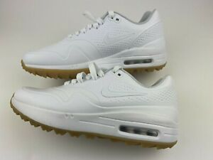 Nike Air Max 1 Golf Shoes Spikeless White Gum Aq0863 101 Men S Size 7 New 886550267649 Ebay