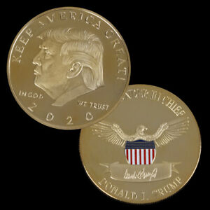 2020-Donald-Trump-Challenge-Muenze-vergoldet-EAGLE-Gedenkmuenze-NeuheXJ