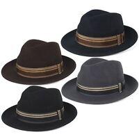 Stylish 100% Wool Fedora Hat Waterproof & Crushable, Handmade in Italy