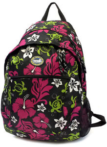 Black 3H-999 Hawaii Spirit Hawaiian Print School Backpack Travel Beach Shopping