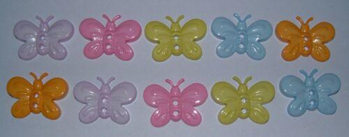 Pastel mixto Jardín Sew thru//through buttons//embellishments-frogs//flowers//bees