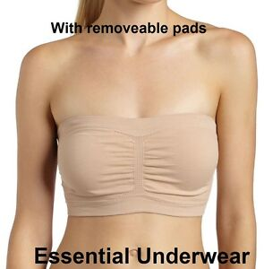27e074c269e Image is loading 1-2-or-3X-STRAPLESS-BANDEAU-BRA-SEAMLESS-