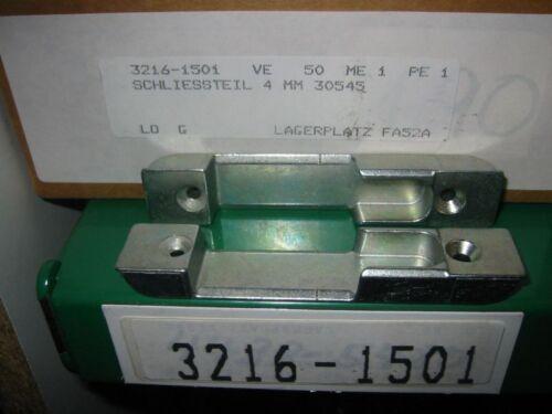 10x MACO Schliessteil einfräsbar 30545 für Holz Fenster mit 4mm Falzluft