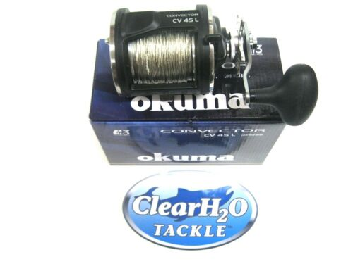 OKUMA CONVECTOR CV-45L PRE-SPOOLED BLOOD RUN COPPER 45# 200/' SALMON STEELHEAD