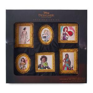 Disney-PRINCESS-DESIGNER-Ornament-Set-BELLE-JASMINE-TIANA-ARIEL-Limited-Edition