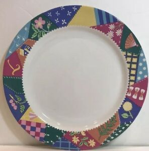 Intl-Tableworks-034-CRAZY-QUILT-034-Set-of-3-Salad-Plates-Bob-Timberlake-Oven-Proof