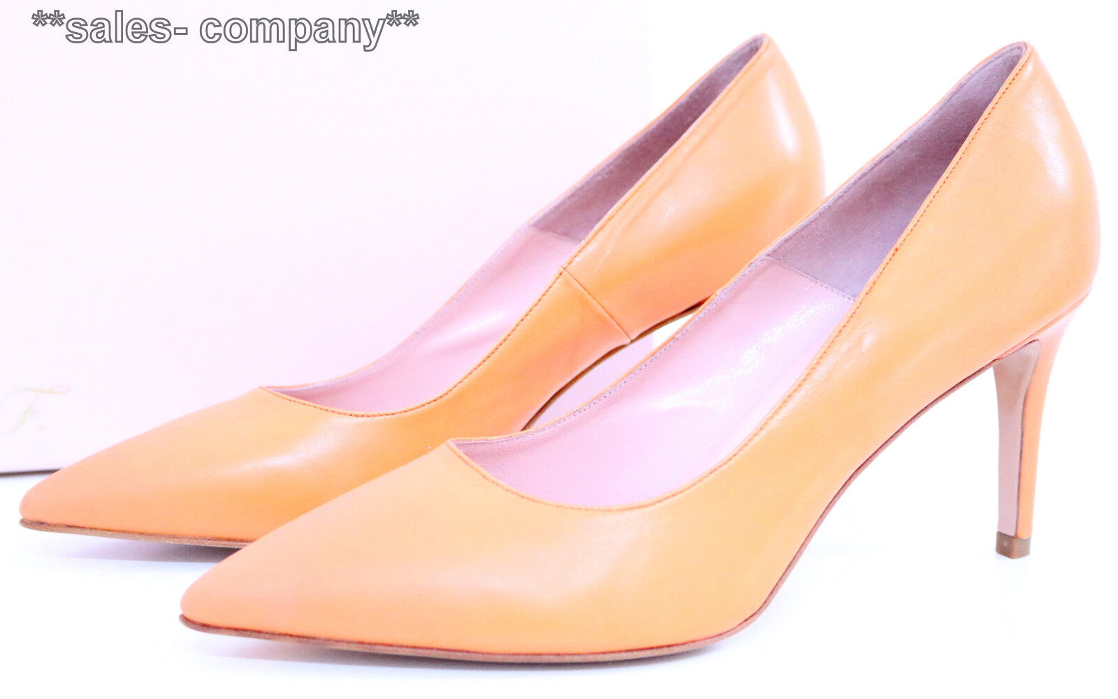 Anna F. Pumps Gr.37 Orange Leder Neu+OVP Ladenpreis