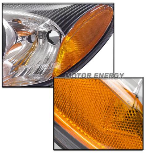 FOR 00-07 FORD TAURUS SEDAN WAGON CRYSTAL STYLE HEADLIGHT LAMP BLACK LEFT+RIGHT