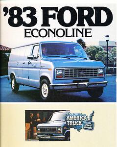1983 Ford Econoline Van 14-page Original Car Sales Brochure