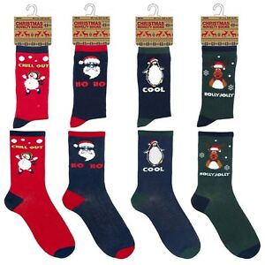 Mens Christmas Socks.Details About New Mens Cotton Rich Christmas Socks Xmas Fun Socks Men Uk