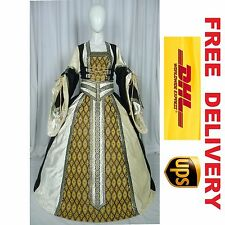 MEDIEVAL RENAISSANCE TUDOR WEDDING HANDFASTING LARP GOWN DRESS COSTUME (20C)