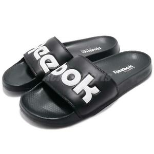 1718d5ddb31d37 Details about Reebok Classic Slide Black White Men Women Sports Sandal  Slippers CN0735