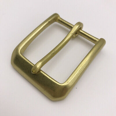 "Heavy Duty Solid Brass Single Prong Square Belt Buckle 38mm 1.5/"" Solid Brass"