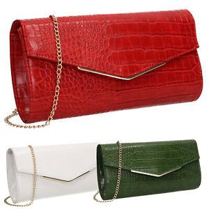 Jade-Faux-Leather-Croc-Skin-Effect-Envelope-Smart-Womens-Clutch-Bag