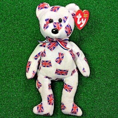 Ty Beanie Baby Jack black nose Bear UK Country Exclusive 2003 MWMT
