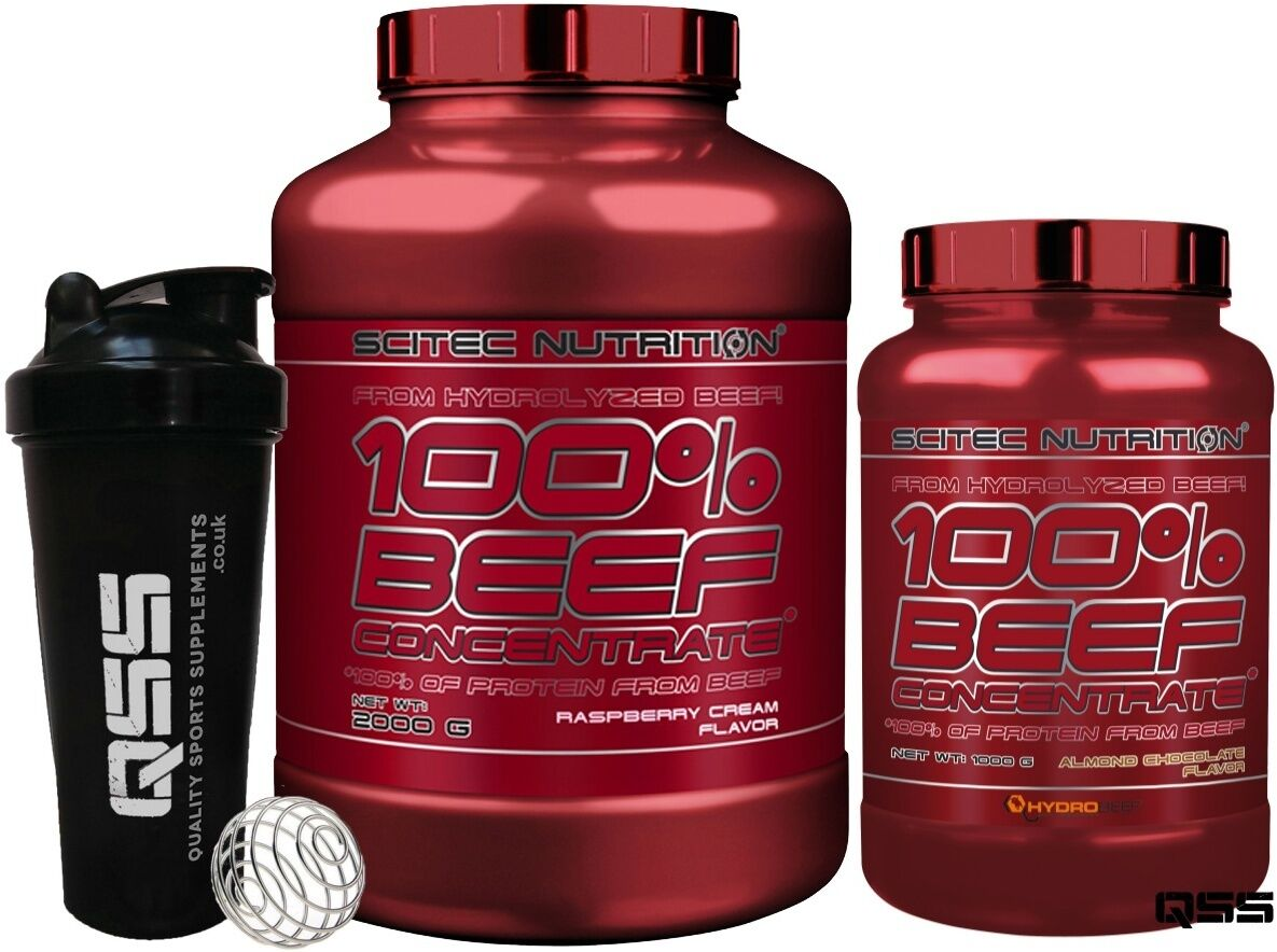 SCITEC NUTRITION HYDROLYZED 1KG 100% BEEF CONCENTRATE PROTEIN 1KG HYDROLYZED / 2KG ALL FLAV +SH 0cf6a9