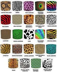 Animal-Print-Lampshades-Ideal-To-Match-Animal-Print-Bedding-Sets-amp-Duvet-Covers