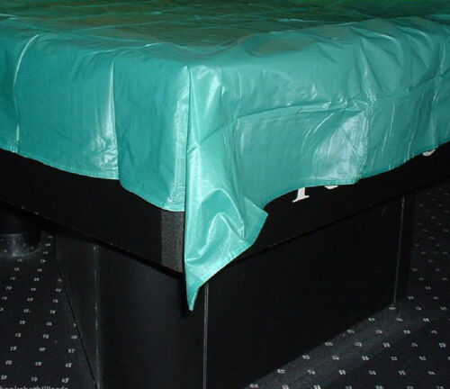 8/' Billiards Pool Table Cover Green w// Weighted Corners for 8 foot