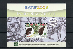 Papua New Guinea 2009 MNH Bats 1v S/S Wild Animals Conservation Stamps