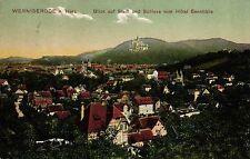 Wernigerode, Stadt u. Schloss vom Hotel Sennhütte aus gesehen, 1908