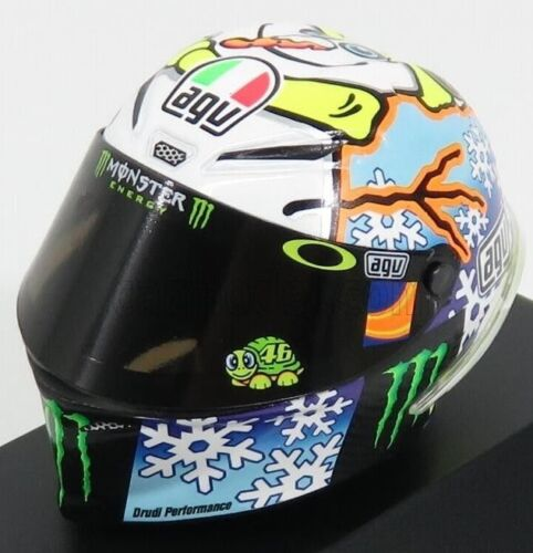 Minichamps 1//8 Casco Agv Valentino Rossi #46 MotoGP SEPANG TEST 2016 398160076