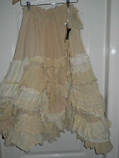 ONE SIZE RITANOTIARA CREAM PRAIRIE LONG MAXI MORI GIRL GYPSY VINTAGE LACE SKIRT