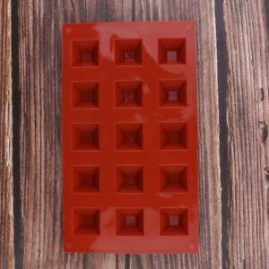 15-Cavity Pyramid Ice Tray Silicone Mold Cake Chocolate Baking Fondant Mould