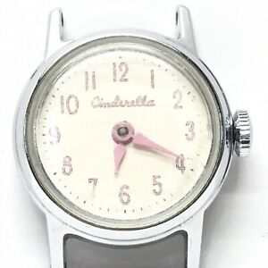 Vintage-1950-039-s-US-Time-Cinderella-Chrome-Plated-Watch