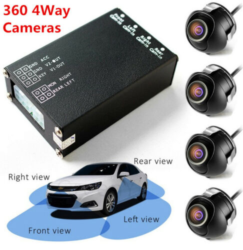 Car Parking Panoramic View Rearview Camera System 360 Degree View 4 Camera