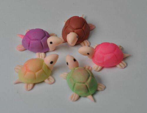 3 miniature assortiti Turtle Tartaruga per casa delle bambole//terrario Ornamenti Da Giardino
