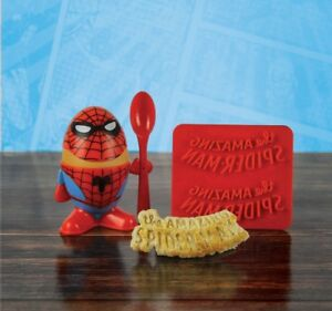 Marvel Comic Spiderman Egg Cup Holder Shaped Toast Cutter Boys Novelty Xmas Gift