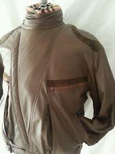 $895 New Vintage Brown Bomber Shearling Motorcycle Coat Jacket 42 52 Med Large